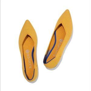 Rothys marigold yellow point flats